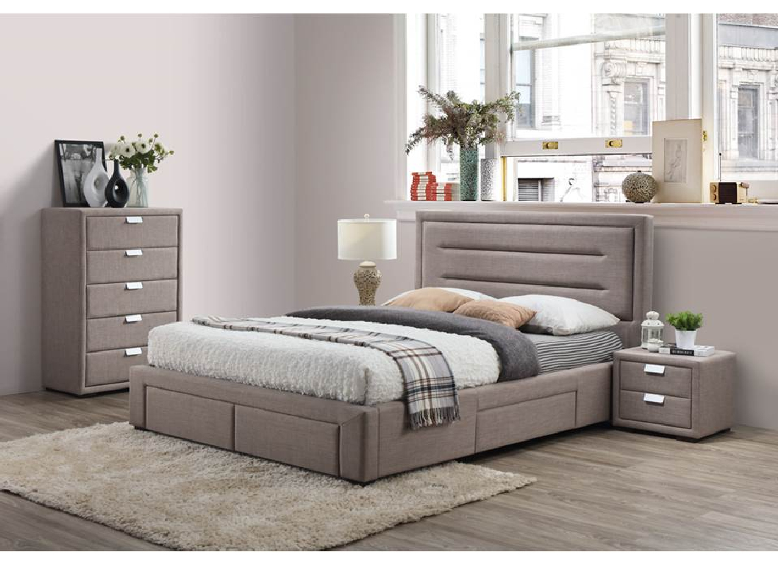 Caren 4pce queen size bedroom suite jar furniture for Bedroom suites with mattress