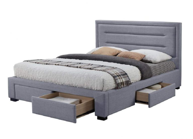 CAREN QS BED IN MID GREY 2