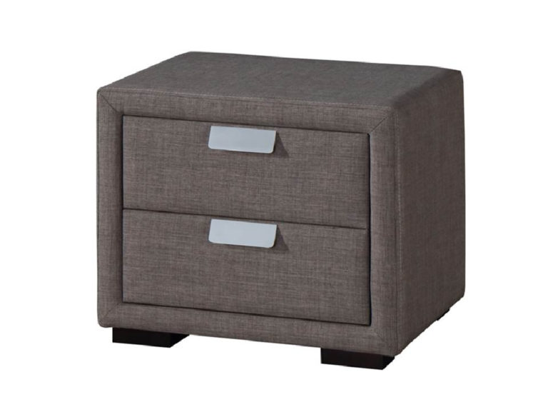 Caren bedside table in Grey