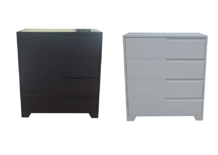 GROOVE 4 DRAWER HIGH CHEST