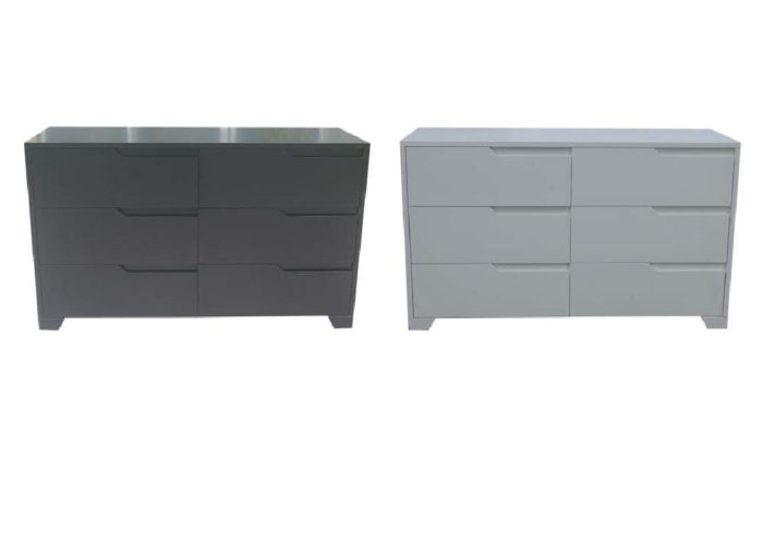 GROOVE 6 DRAWERS HIGH CHEST