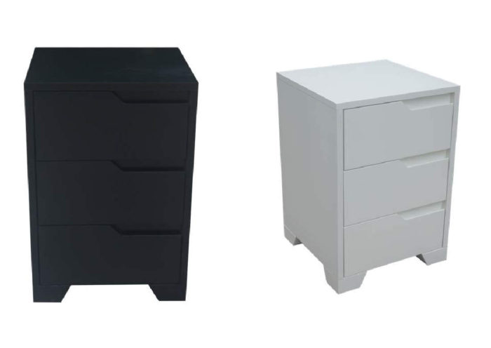 GROOVE BEDSIDE TABLE