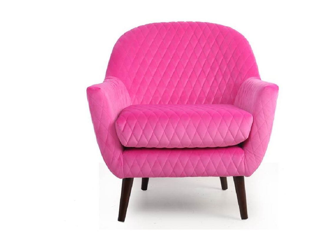 New Orleans Accent Chair In Pink Jar Furniture